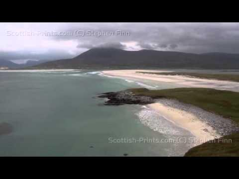 Elevated View Of Luskentyre Sands Isle Of Harris Scotland