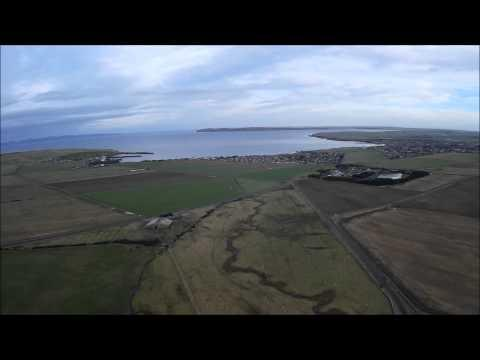 Thurso Caithness Scotland Aerial Video