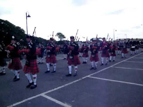 Waldsee And Wick Pipe Bands At Riverside, Wick 12th July 2013