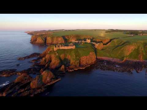 DJI Inspire 1 - Dunnottar Castle, Scotland - 4K