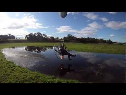 Paramotoring- Foot Dragging At Drymen, Loch Lomond