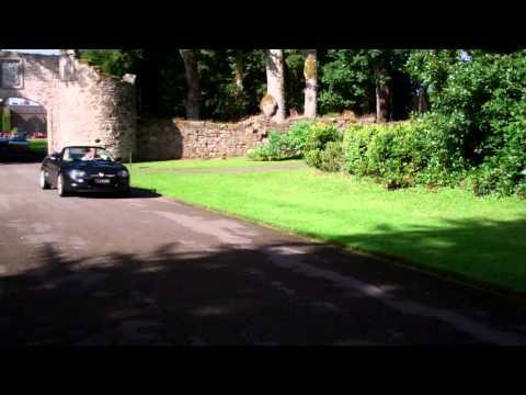 MG Car Rally Convoy Scone Palace Perth Perthshire Scotland