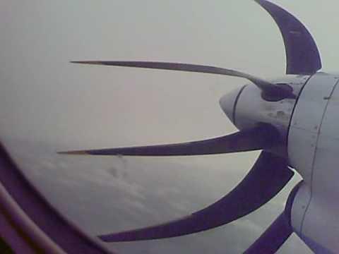 Saab 340 Takeoff From Benbecula Scotland Western Isles