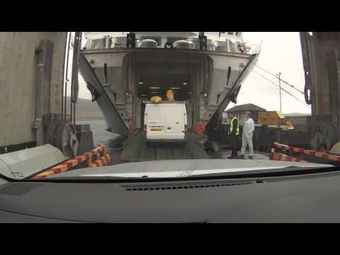 Complicated Boarding CalMac Ferry At Uig - ScotVlog 47