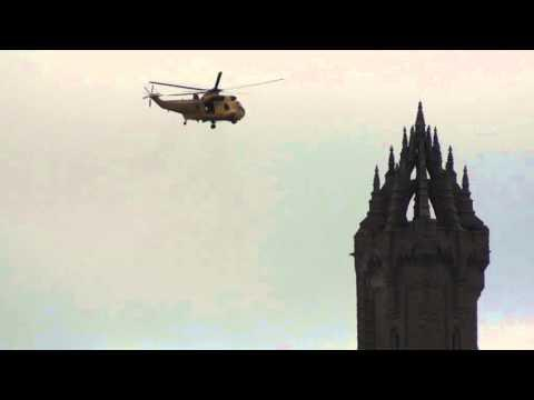 RAF Lossiemouth Rescue On 15 March 2015 From Wallace Monument