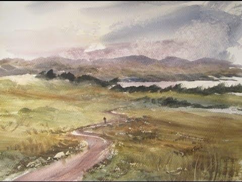 Watercolour Painting Lesson Featuring Loch Rannoch