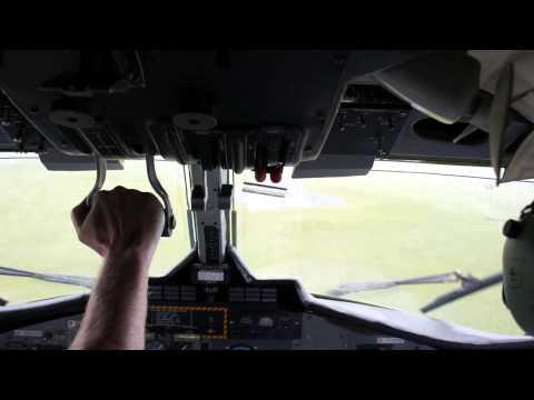 Landing To Benbecula With Twin Otter, Scotland, Loganair