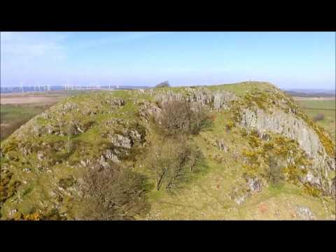 Loudoun Hill From The Air, Darvel, East Ayrshire