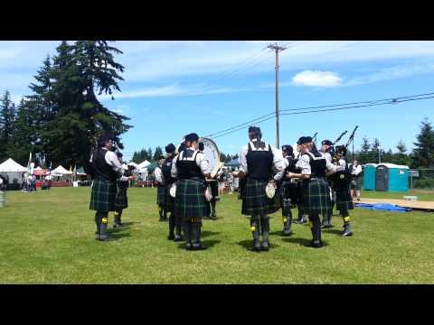 Tacoma Highland Games - Clan Gordon Pipe Band