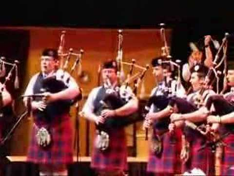 Clan Gregor Society Pipe Band At Celtic Connections 2008