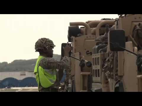 Military Vehicles Arrive In Scotland