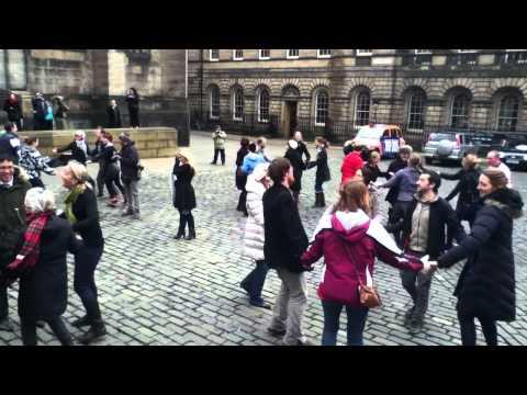 The World's First Ceilidh Flash Mob - Dashing White Sergeant