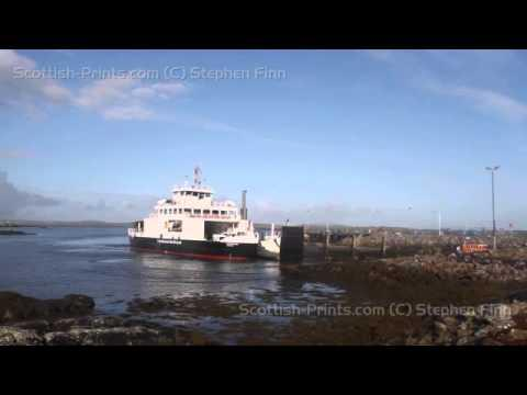 Timelapse Of Calmac Ferry Arriving Leverburgh Isle Of Harris Scotland