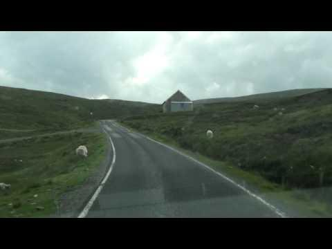 Driving South On Yell In Shetland.