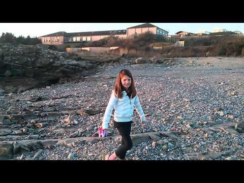 Lottie On Beach At Gatehouse Of Fleet - Feb 2013