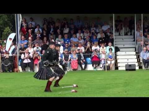 Sword Dancers Military Tattoo In Perth Perthshire Scotland