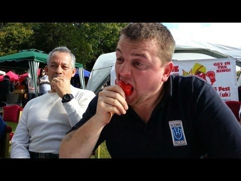 Chilli Eating Contest Scottish Chilli Festival Scone Palace Sunday 2013
