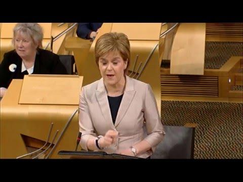 First Minister's Questions - Scottish Parliament: 4th February 2016