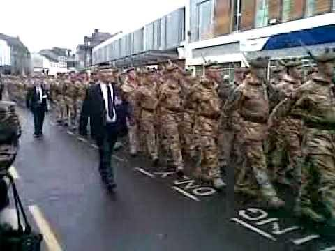 Argyll And Sutherland Highlanders March Through Dumbarton - 11 Dec 2008