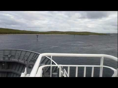 Onboard Shetland Islands Council Ferry - MV DAGALIEN - Leaving Ulsta, Yell And Heading To Toft