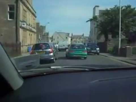 Driving Through The Streets Of Thurso, Scotland