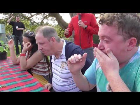 Chilli Eating Contest Scottish Chili Festival Scone Palace Sun 21st Sept 2014