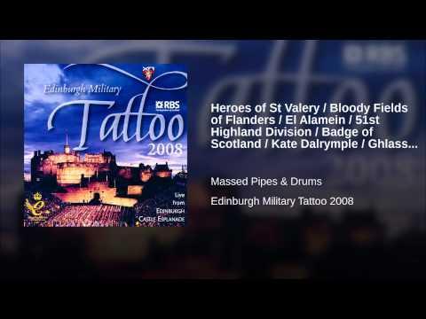 Heroes Of St Valery / Bloody Fields Of Flanders / El Alamein / 51st Highland Division / Badge...