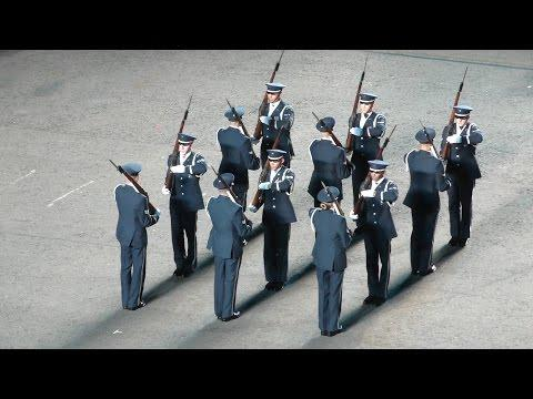 Edinburgh Military Tattoo 2015 - Act 2 - American Airforce Synchronised Rifle Tossing