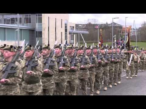 1st Battalion The Royal Regiment Of Scotland Homecoming Parade In West Lothian