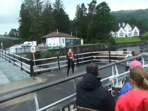 A CRUISE ON THE  SIR WALTER SCOTT  LOCH KATRINE SCOTLAND