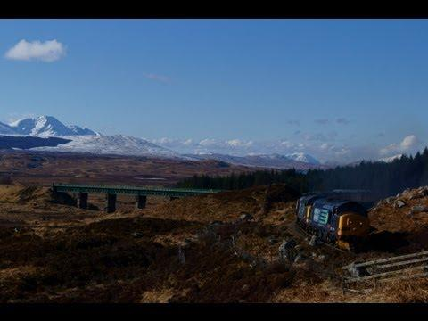 (HD) Easter Highlander 37607/37409 At Rannoch Moor 30/03/2013